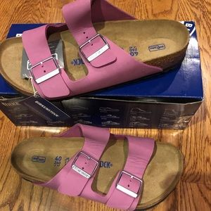Birkenstock Shoes - Birkenstock Arizona orchid leather 9 medium